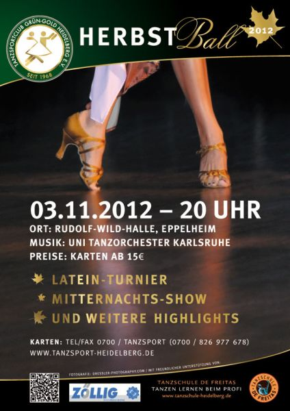 6. Heidelberger Gruen-Gold-Herbstball am 03.11.2012